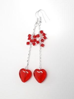 červená srdce 274