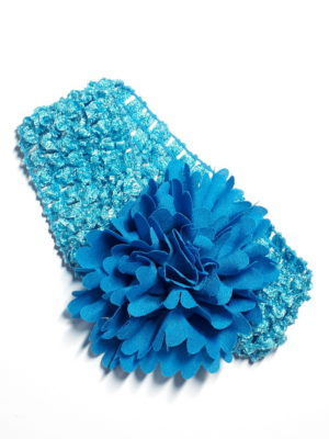 modrá s modrým květem