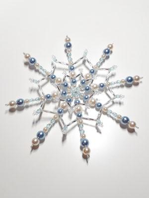 modromodrá stříbrná krémová