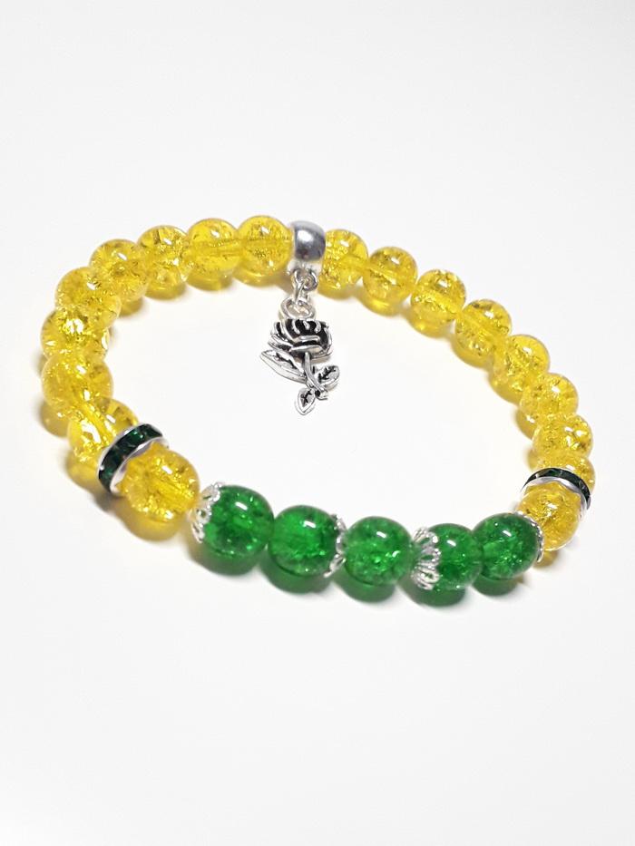žlutá se zeleným tmavě