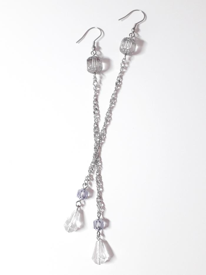 dlouhé visací náušnice krystal bols perle1