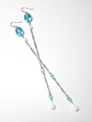 dlouhé modré visací náušnice elsa 3