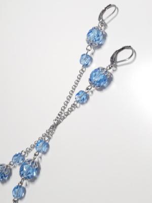 modré visací náušnice 2