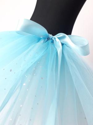 modrá tutu sukně